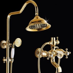 with-crystal-handle-luxury-bathtub-mixer-set-with-soap-holder-gold-bath-font-b-shower-b