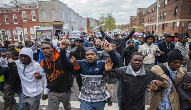 Baltimore Protesters Ask Justice for Black Victims of US Police Brutality